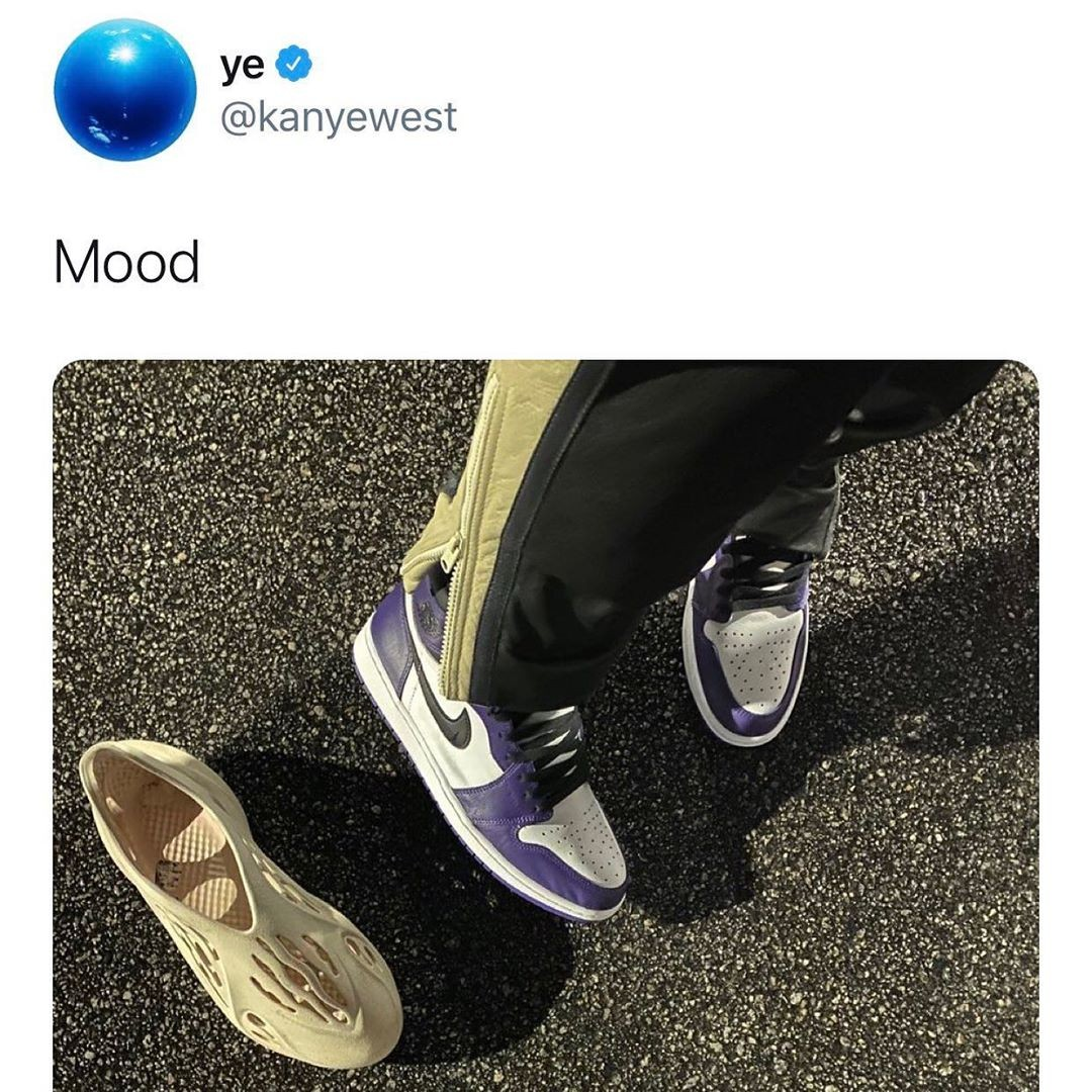 Kanye West Air Jordan tweet