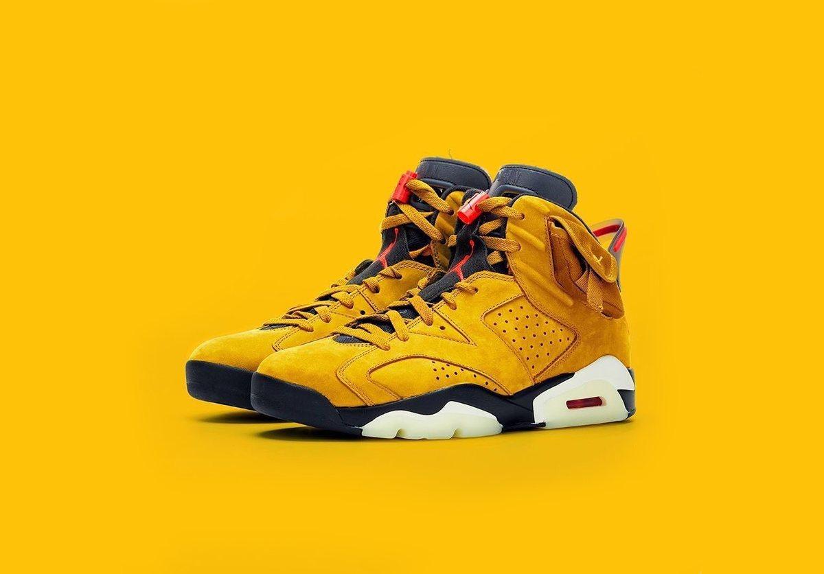 Air Jordan 6 Travis Scott Yellow
