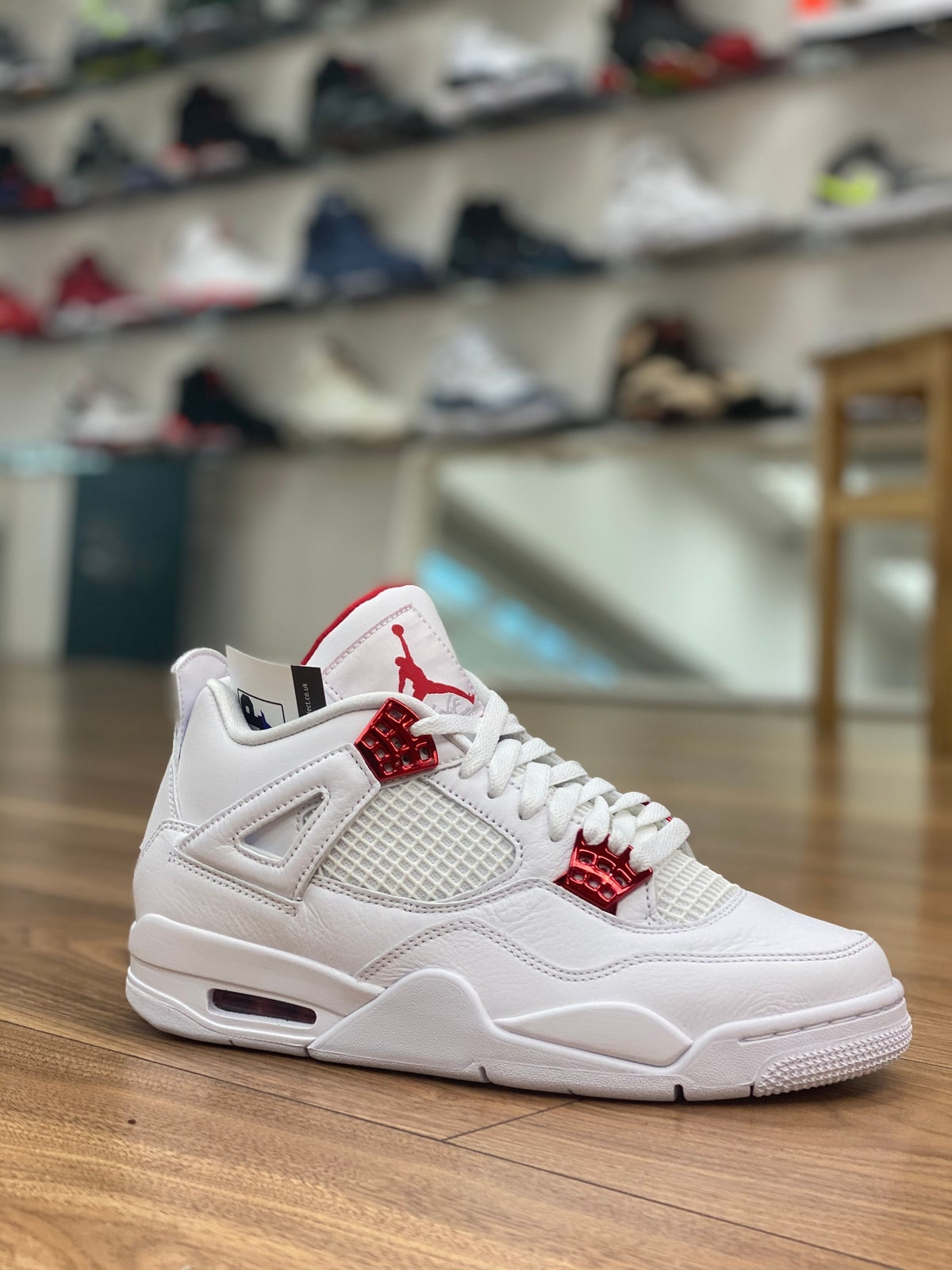 Off-White x AJ4 Metallic Red