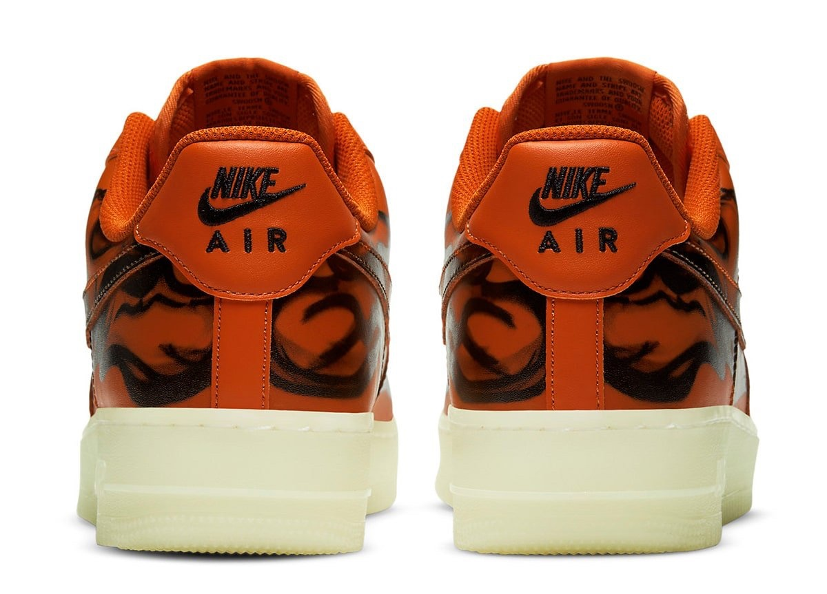 "Air Force 1 Low ""Orange Skeleton"" Halloween 2020"