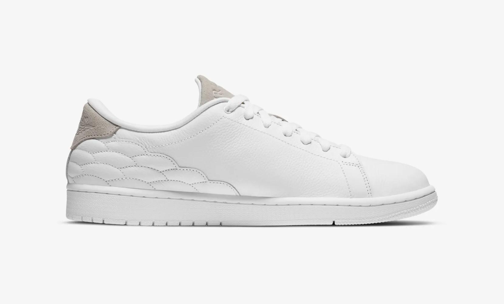 Air Jordan 1 Centre Court White on White