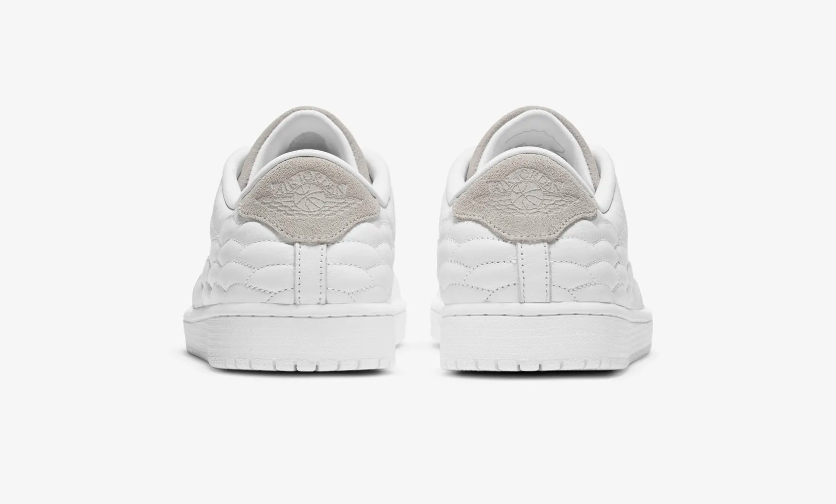 Air Jordan 1 Centre Court White on White