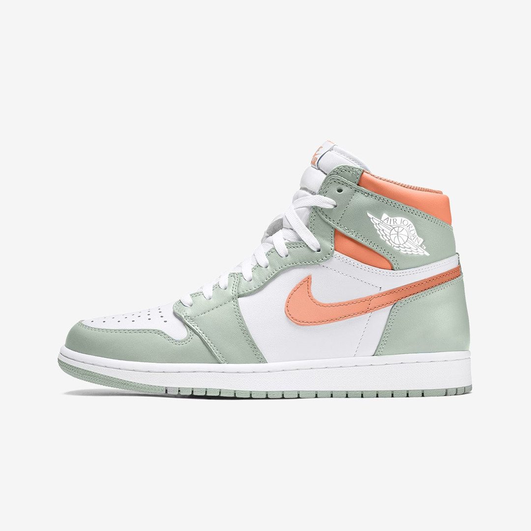 "Air Jordan 1 High ""Seafoam/Healing Orange"""