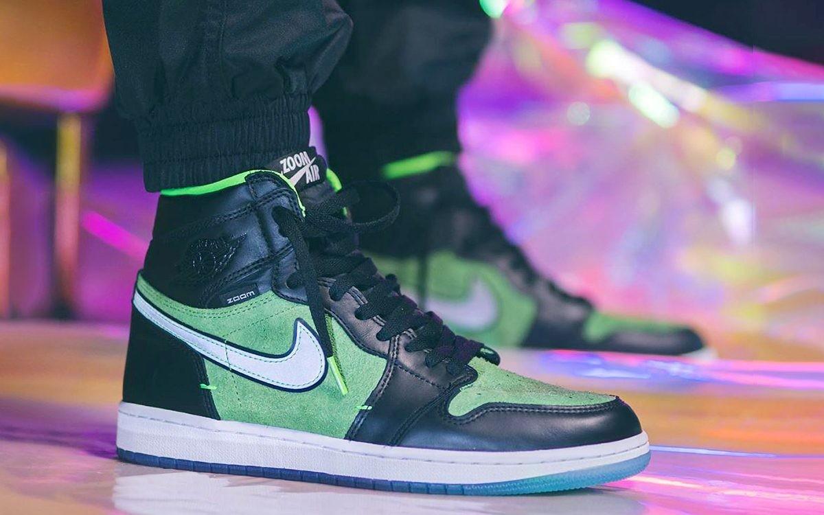 "Air Jordan 1 High Zoom ""Black Green"""