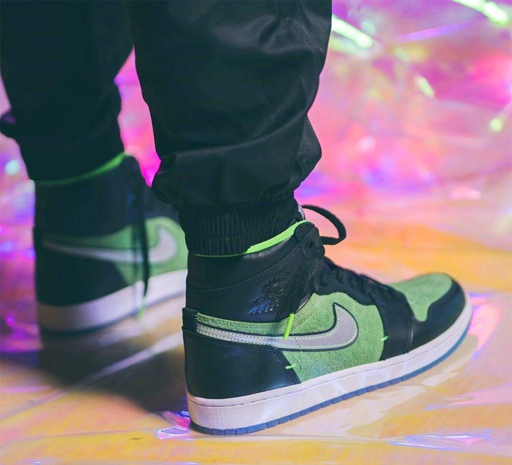 Air Jordan 1 High Zoom Black Green