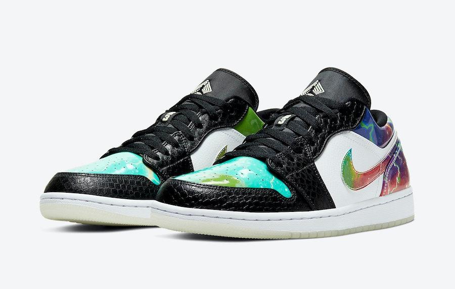 Air Jordan 1 Low Galaxy Snakeskin