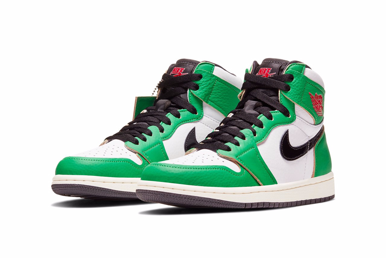 "Air Jordan 1 High ""Lucky Green"""