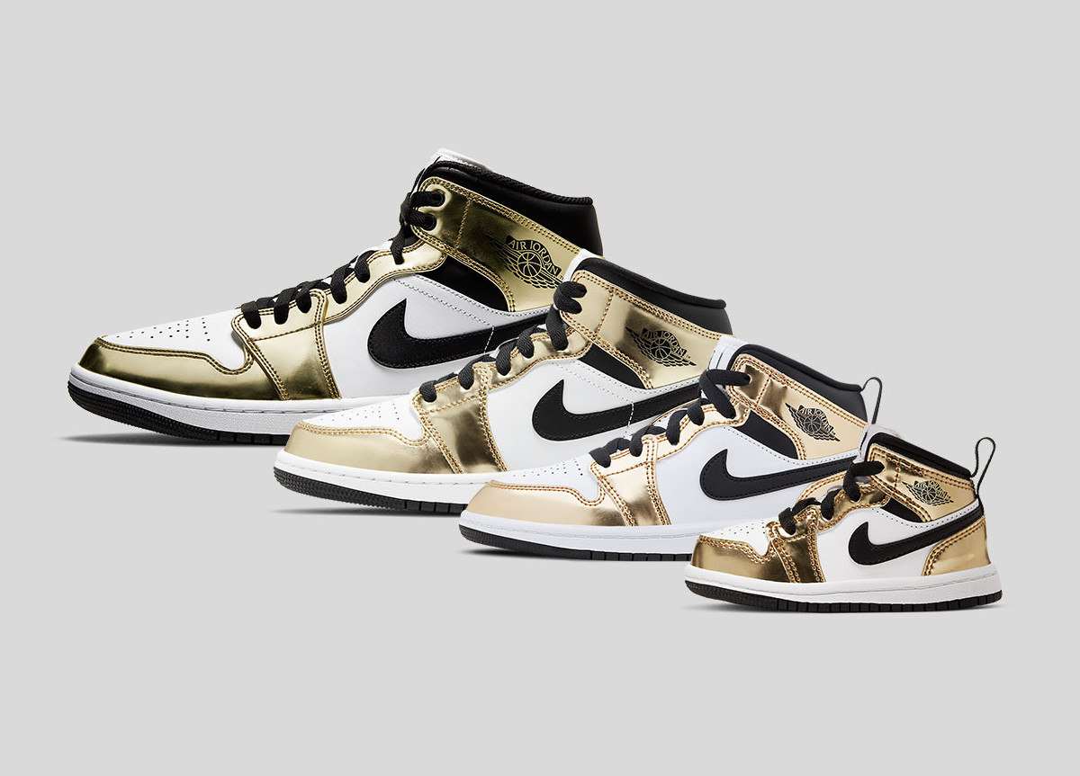 "Air Jordan 1 Mid ""Metallic Gold"""