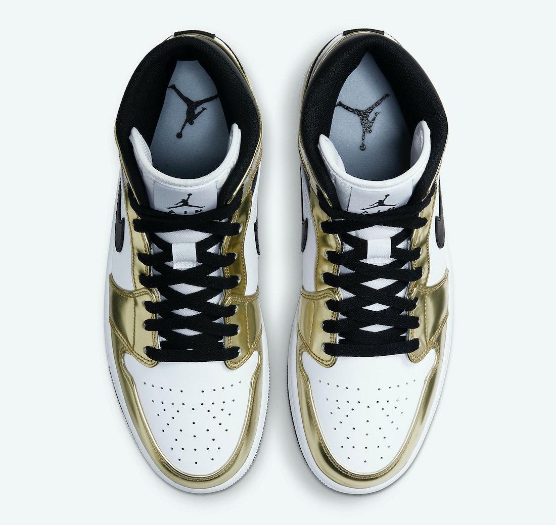 "Air Jordan 1 Mid ""Metallic Gold"""