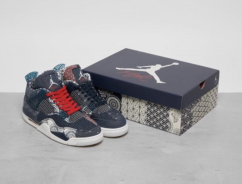 "Air Jordan 4 ""Deep Ocean"" denim box"