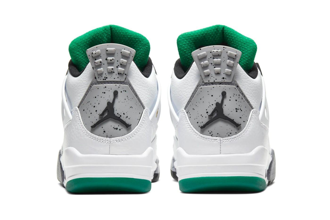 Air Jordan 4 Lucid Green Rasta