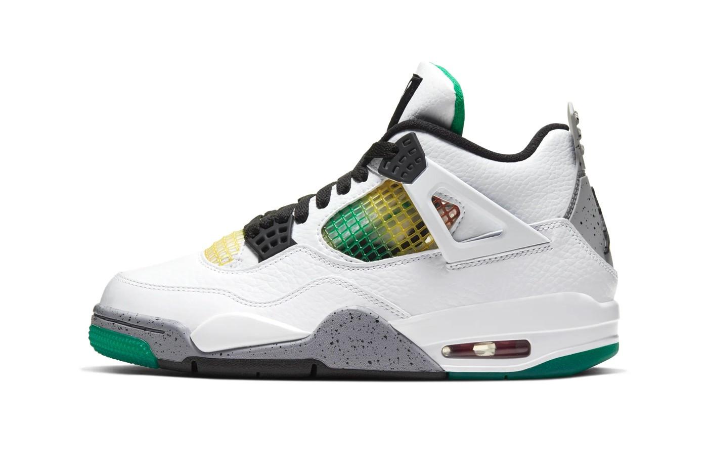 "Air Jordan 4 ""Lucid Green"" Rasta"