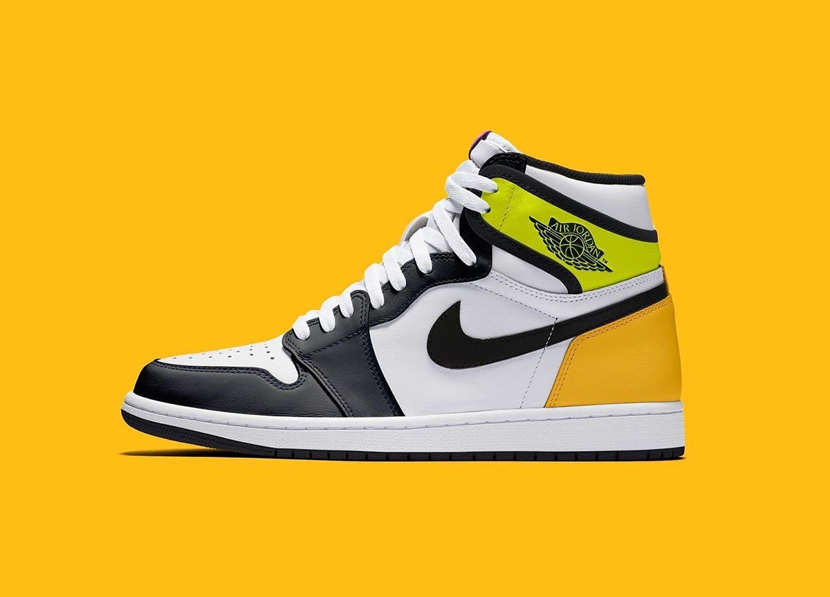 "Air Jordan 1 High ""Volt/University Gold"""