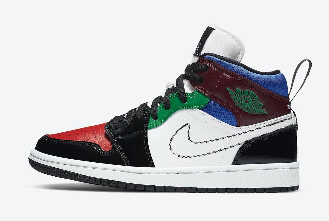 """Air Jordan Mid 1 """"Multi-Colored Patent"""""""