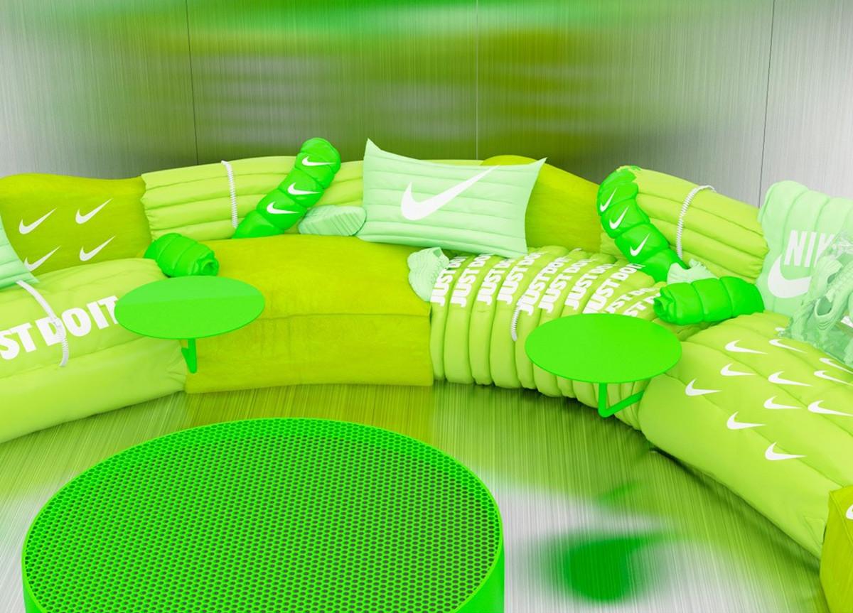 Divano Nike Air Max verde Just Do It