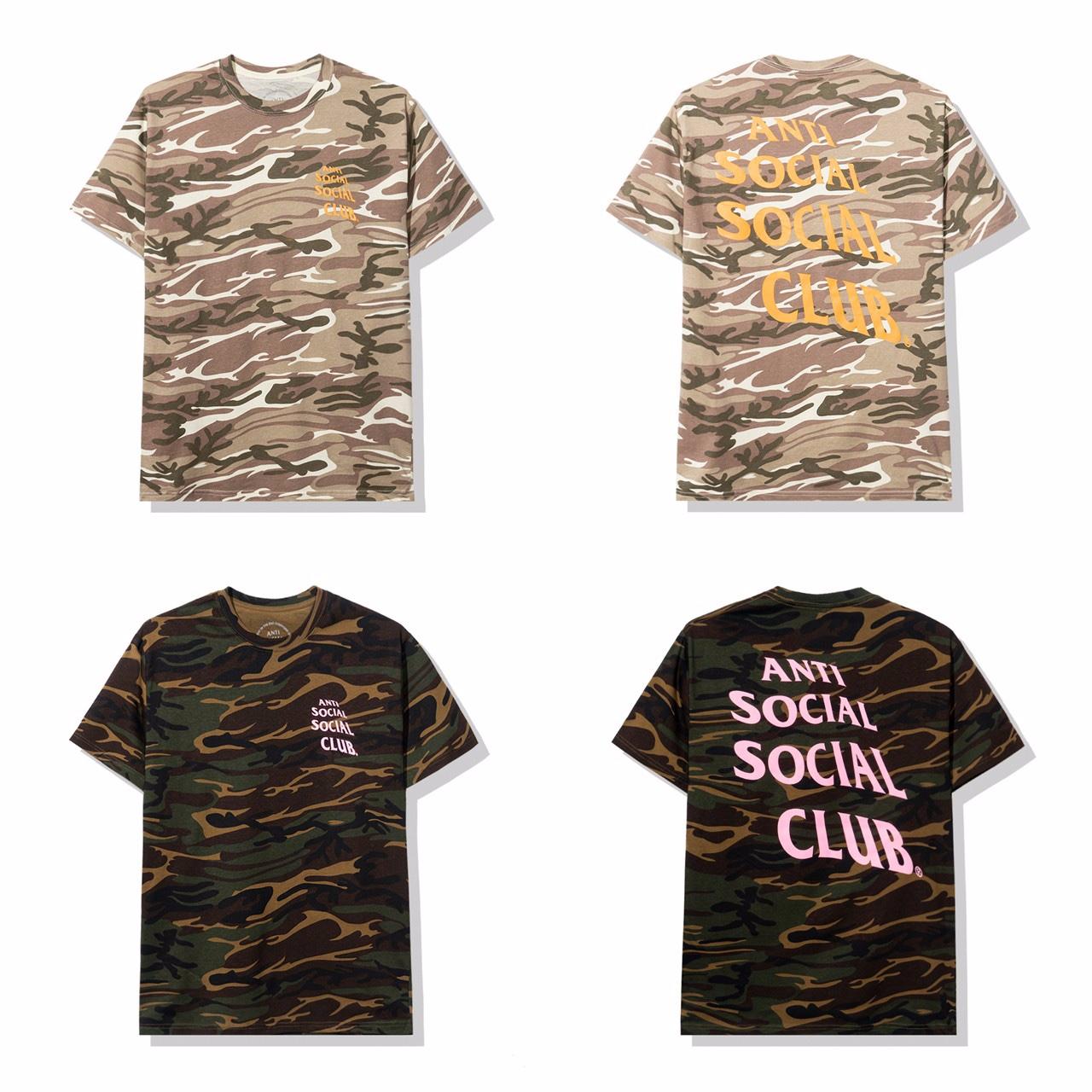 T-Shirt slavata Anti Social Social Club