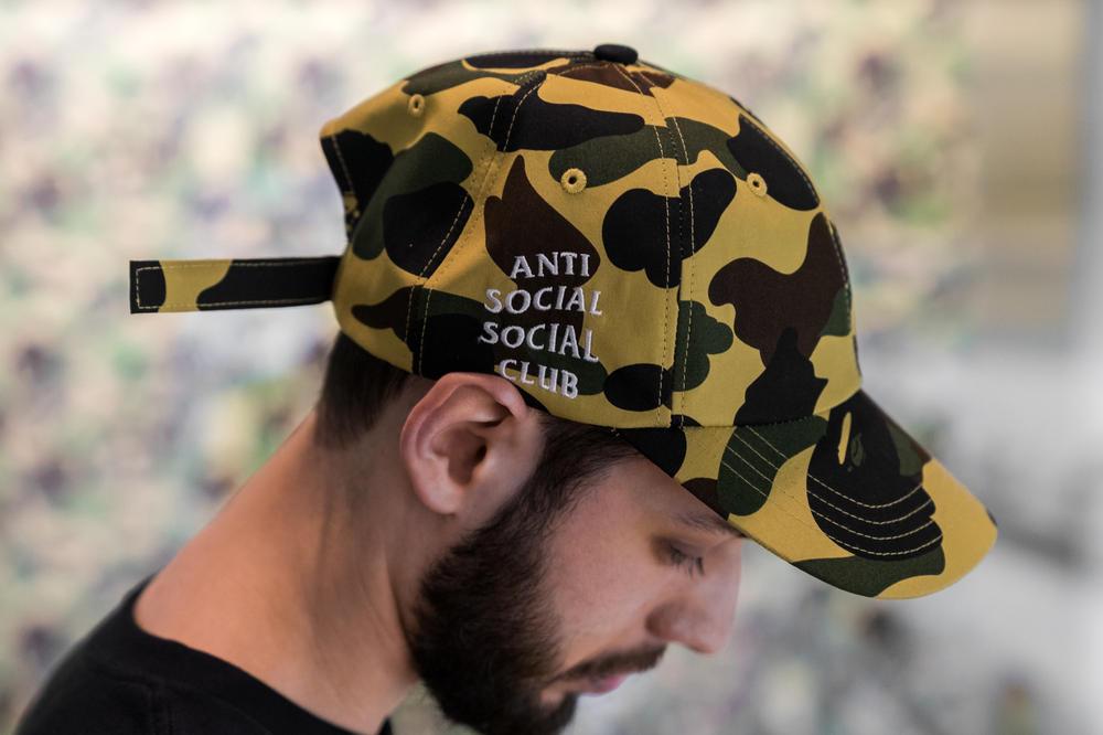 Anti Social Social Club Bape Camo Cap 2017