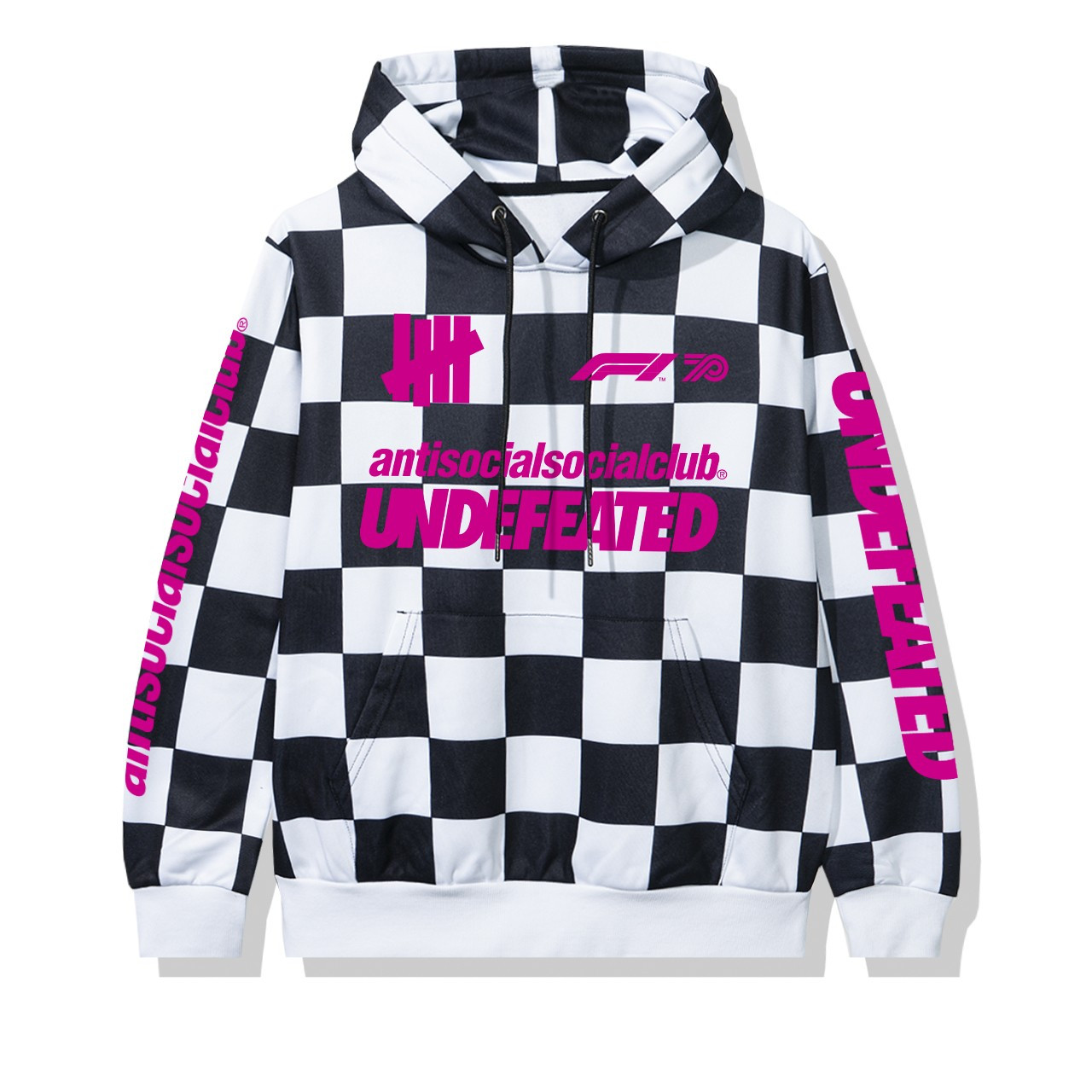 Anti Social Social Club UNDEFEATED Formula 1 hoodie scacchi