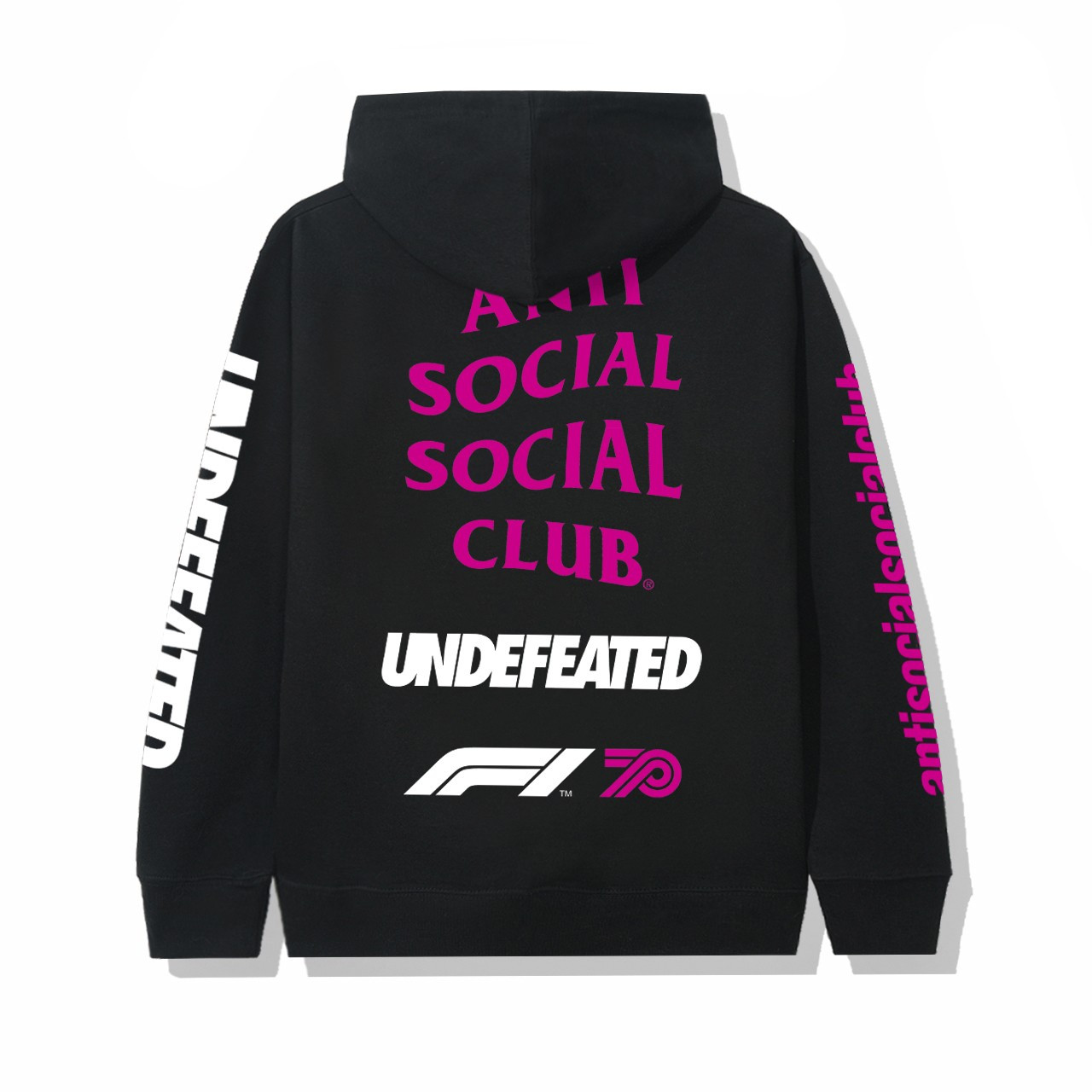Anti Social Social Club UNDEFEATED Formula 1 hoodie nera