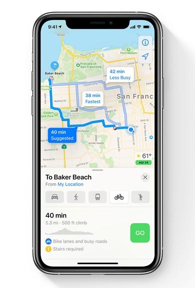 iOS14 Apple Maps