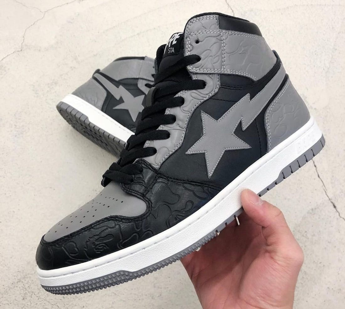 BAPE Court Sta High grey black