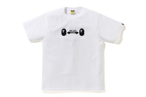 T-shirt social distance white BAPE