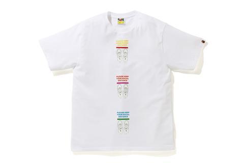 T-shirt social distance bianca BAPE