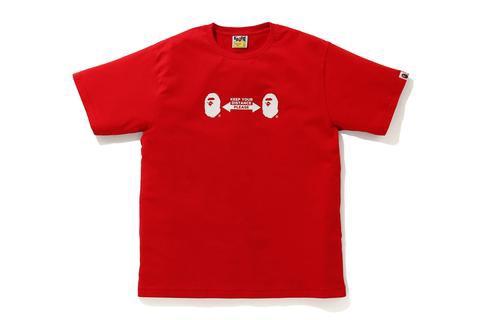 T-shirt social distance rossa BAPE