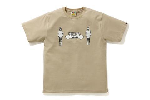 T-shirt social distance beige BAPE