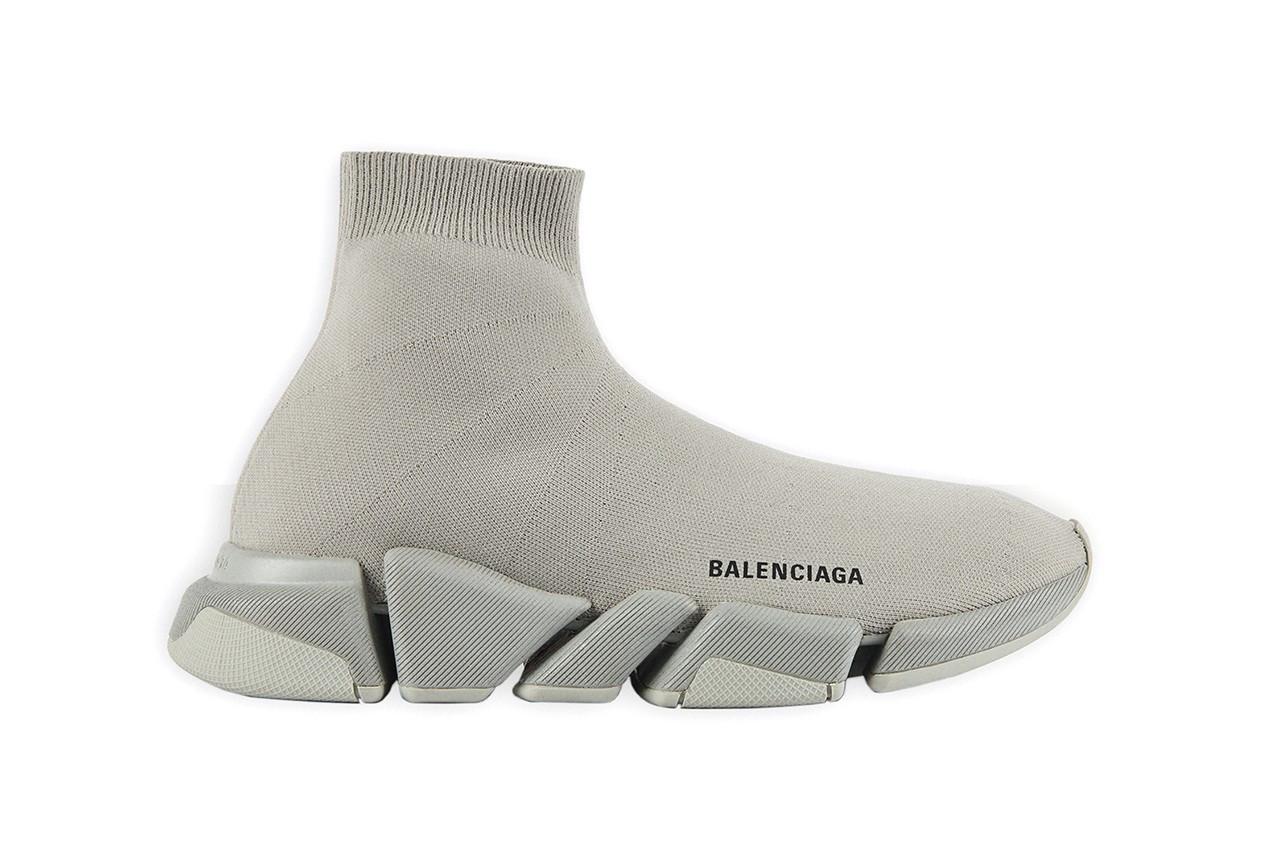 Balenciaga Speed Trainer 2.0 sneaker calzino tutta grigia