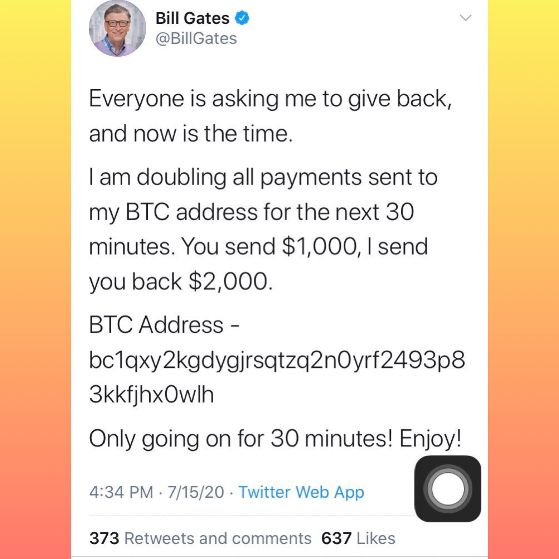 Tweet Bill Gates Hacker
