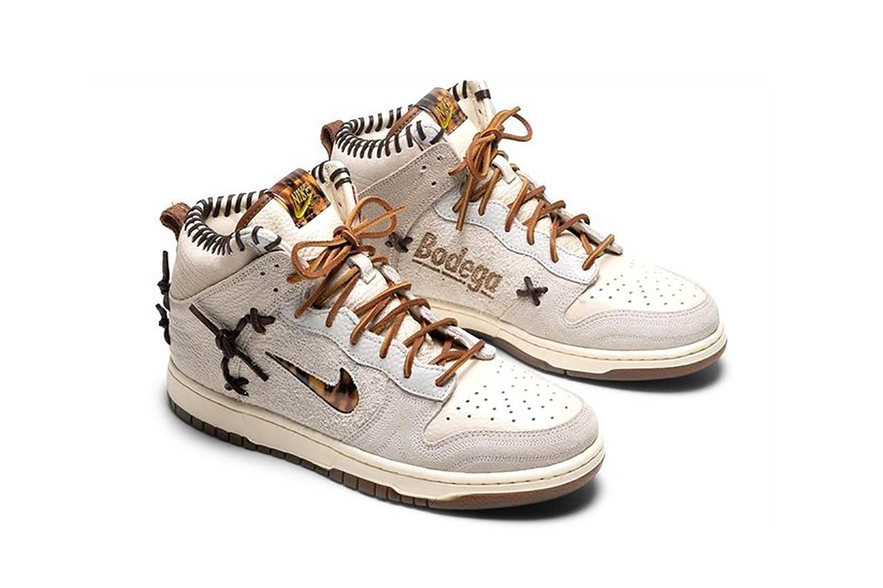 Bodega x Nike Dunk High white