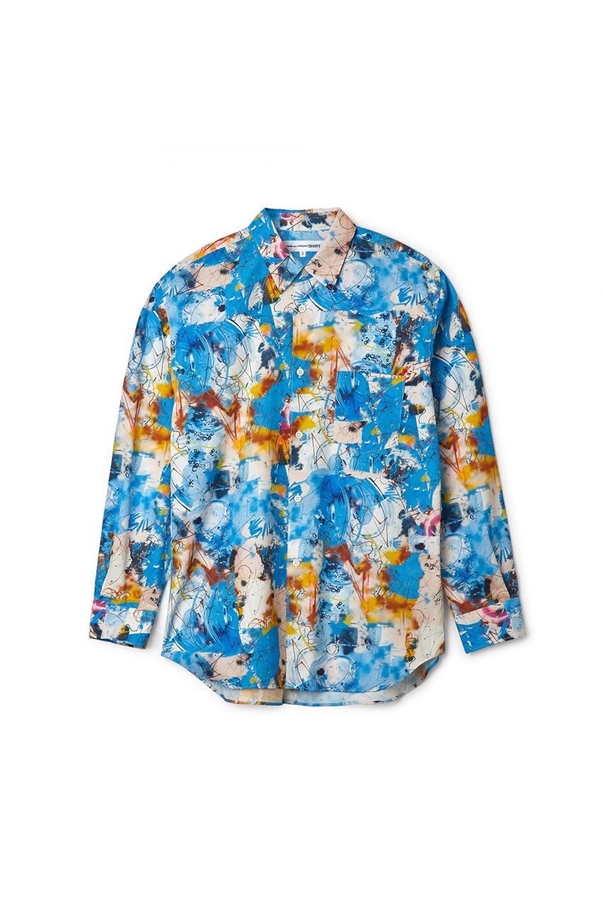 COMMES des GARÇONS SHIRT x Futura shirt azzurra