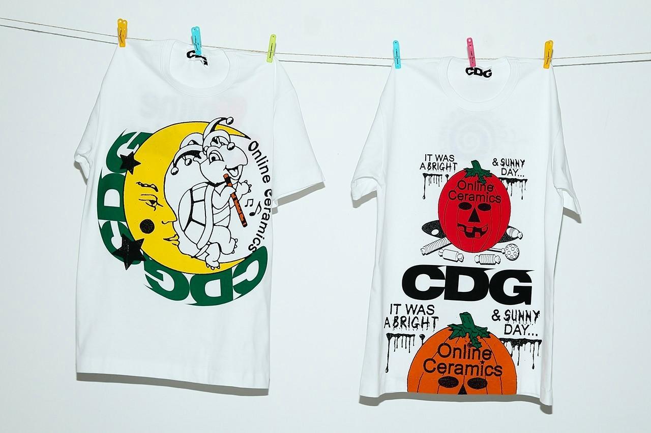 COMMES des GARÇONS x Online Ceramics T.shirts Halloween