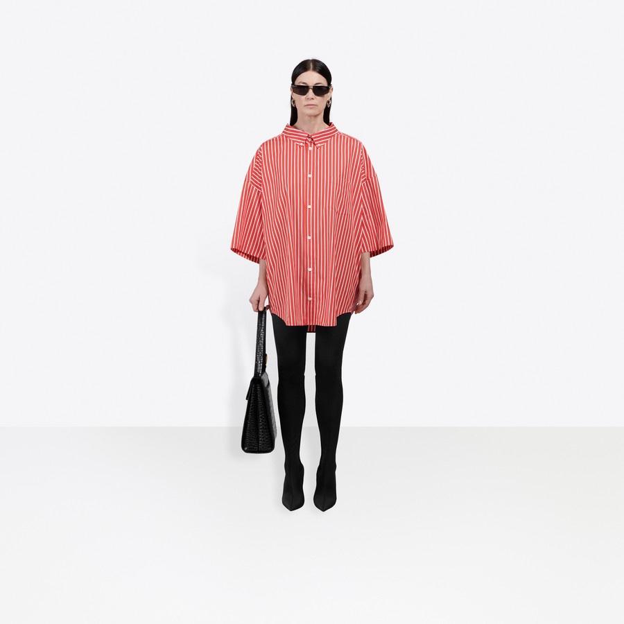 Balenciaga Camicia a Maniche Corte Cocoon Swing