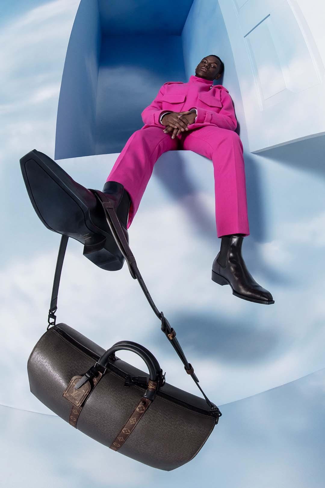 Completo pink e borsa LV
