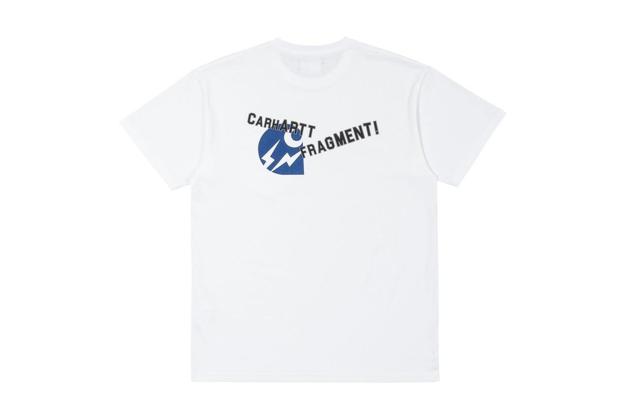 Carhartt fragment design T-shirt bianca logo azzurro