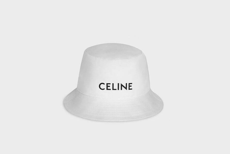 Celine Bucket hat white FW20
