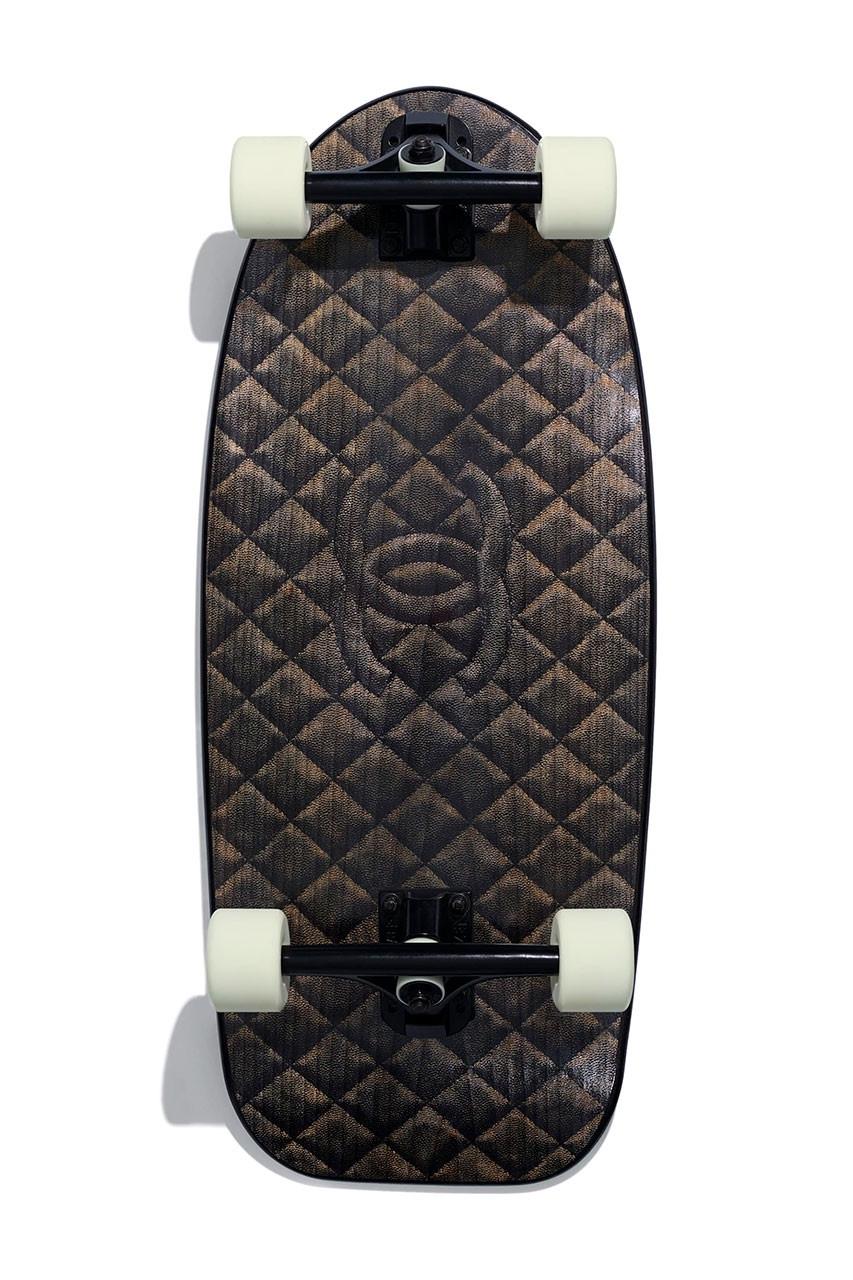 Chanel skate deck back