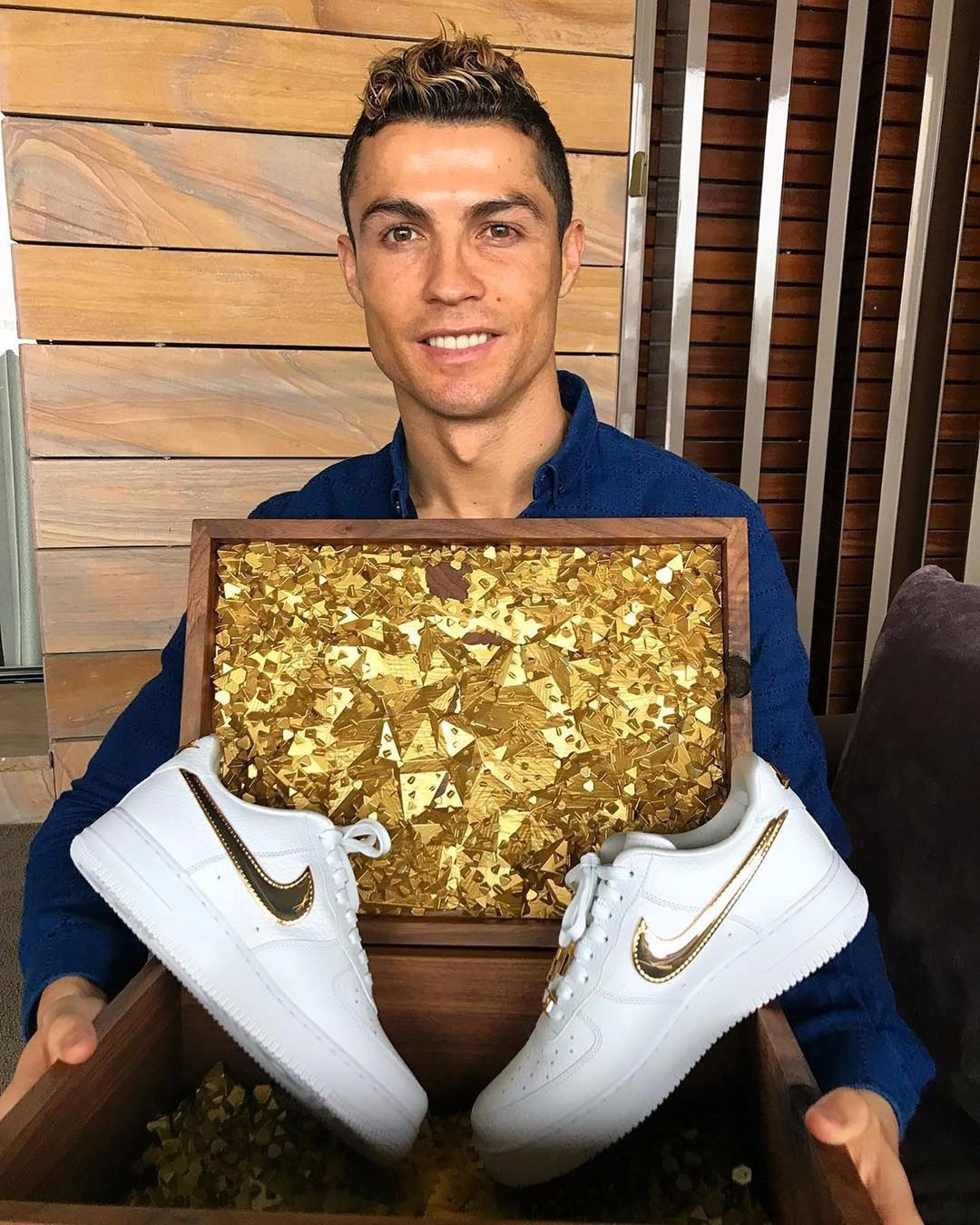 Cristiano Ronaldo Air Force 1 Oro Gold