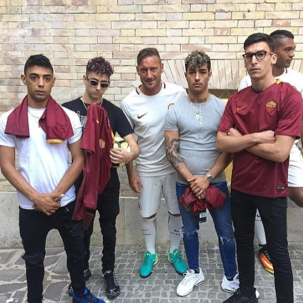 Dark Polo Gang e AS Roma Totti