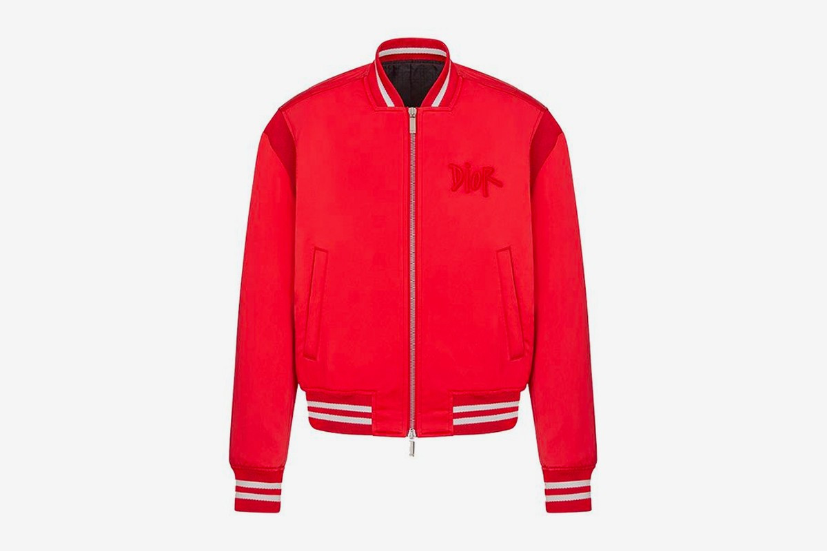 Dior x Stussy Capsule Collection Chinese New Year varsity jacket
