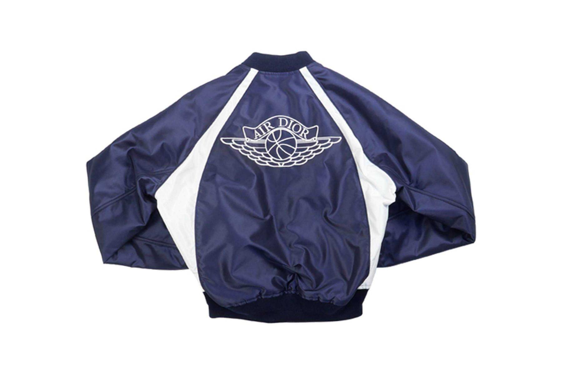 "Dior x Jordan Brand ""Air Dior"" Bomber Jacket con wings logo"