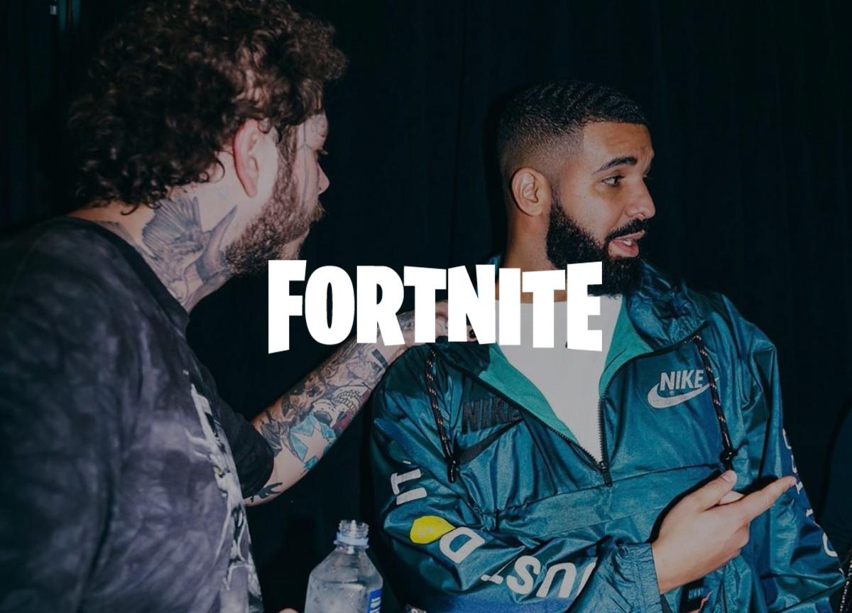Drake e Post Malone x Fortnite