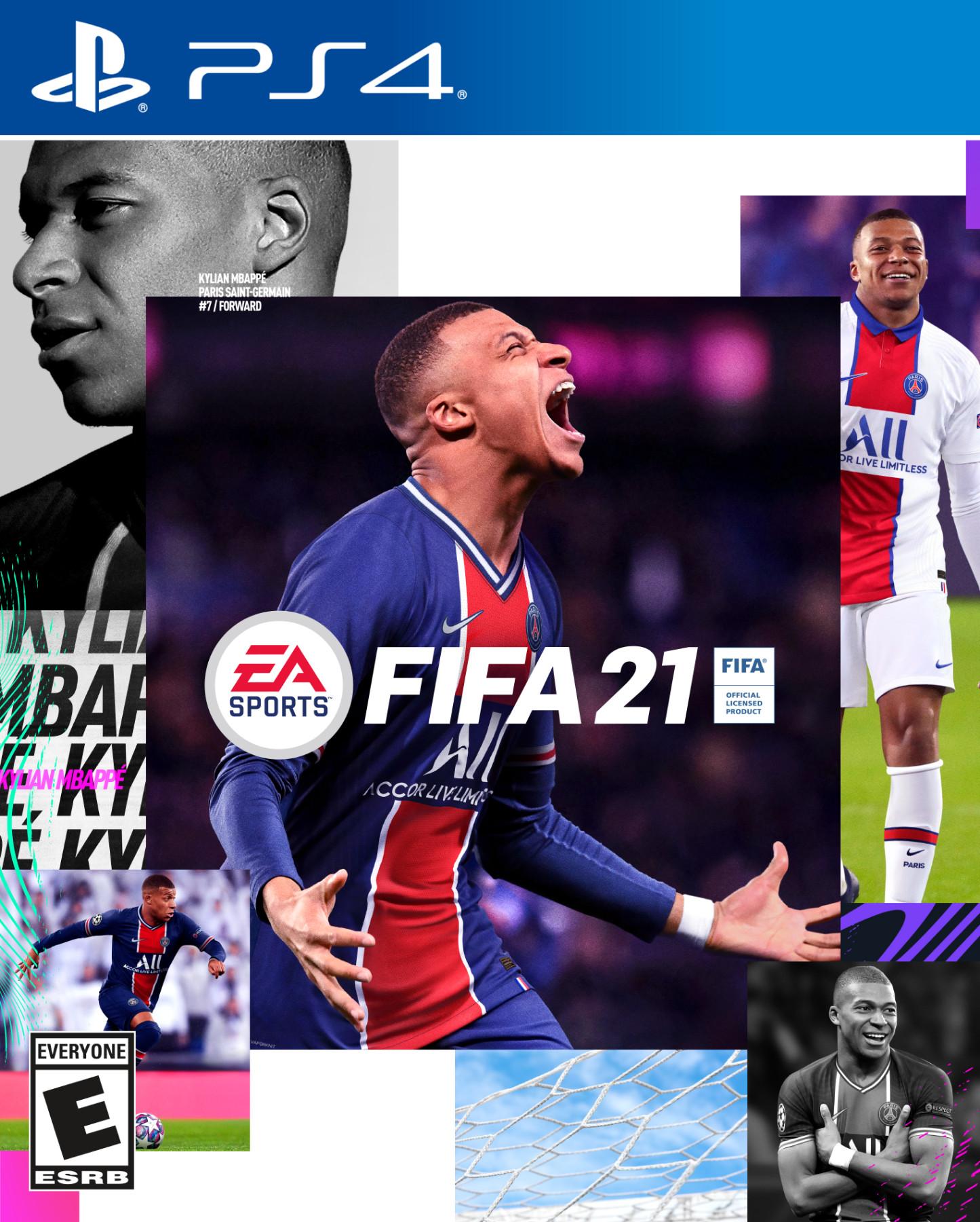 FIFA 21 Kylian Mbappé copertina