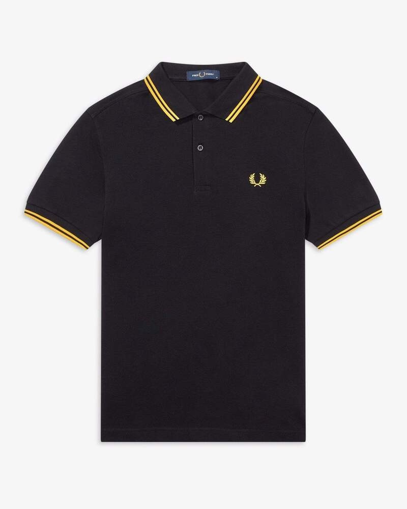 Fred Perry Black/Yellow Polo