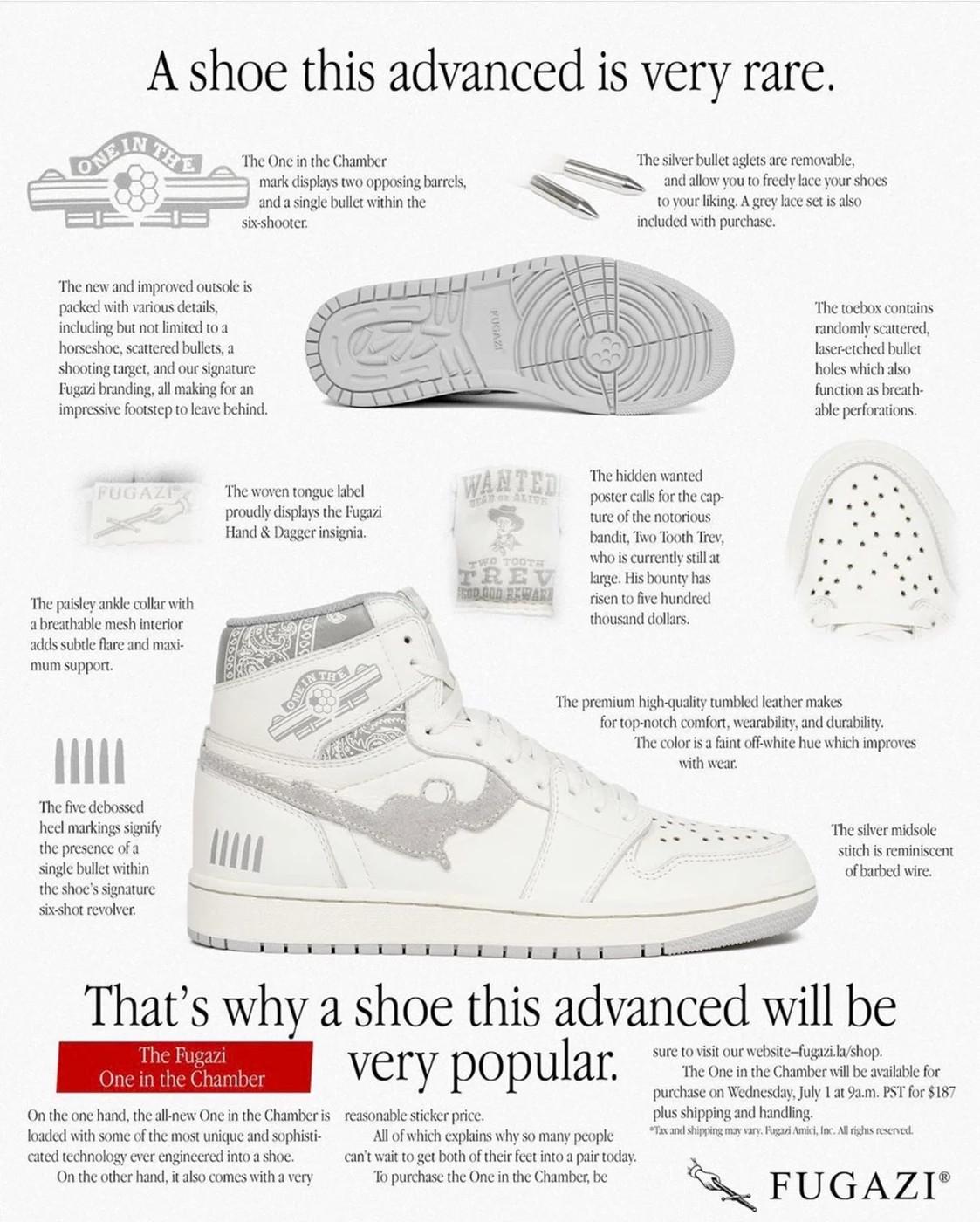 "Manifesto Fugazi sneakers ""One in The Chamber"""