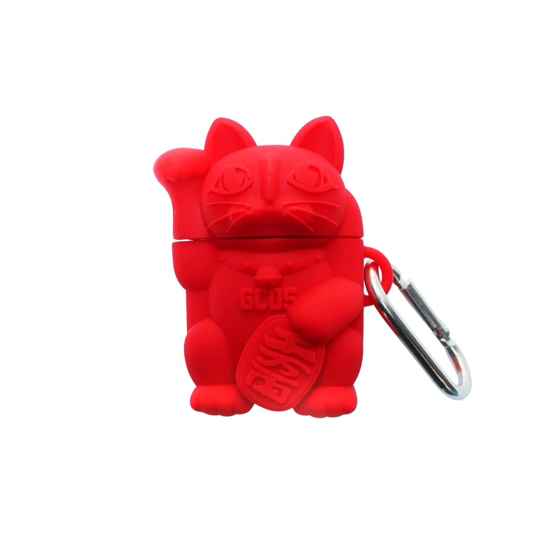 GCDS AirPods Case gatto cinese rosso