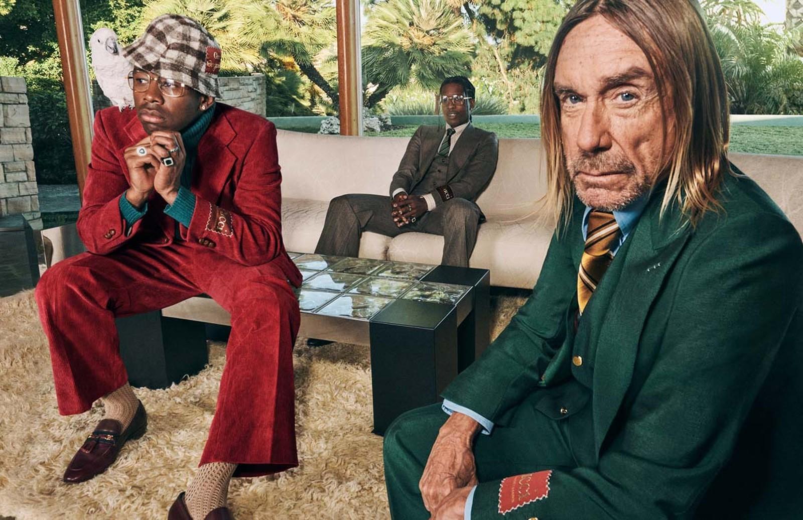 Gucci A$AP Rocky e Tyler, The Creator e Iggy Pop
