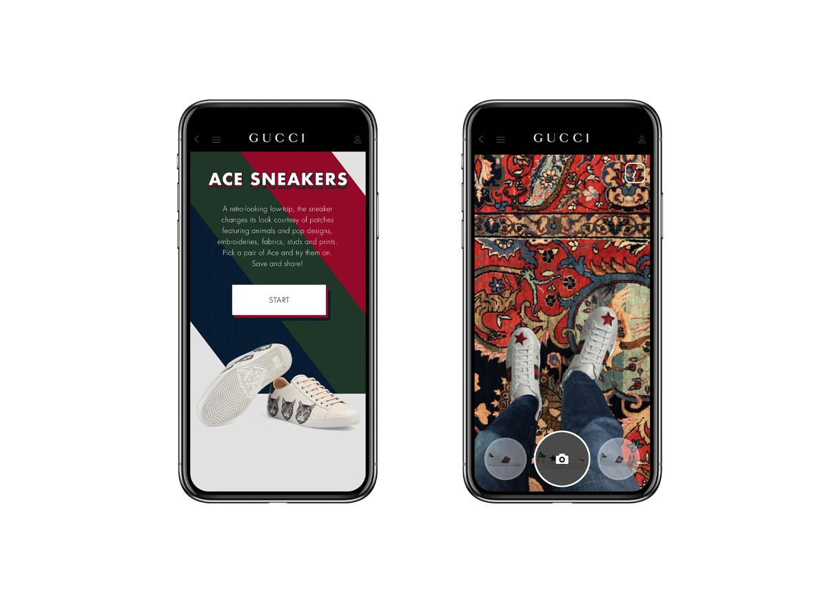 Gucci App realtà aumentata